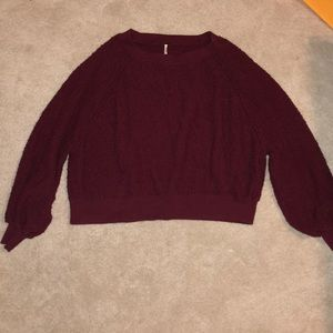 Free People Red Pullover